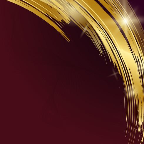 Gold wave abstract background illustration