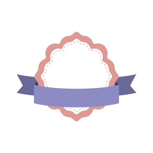 Pastel frame badge ontwerp vector