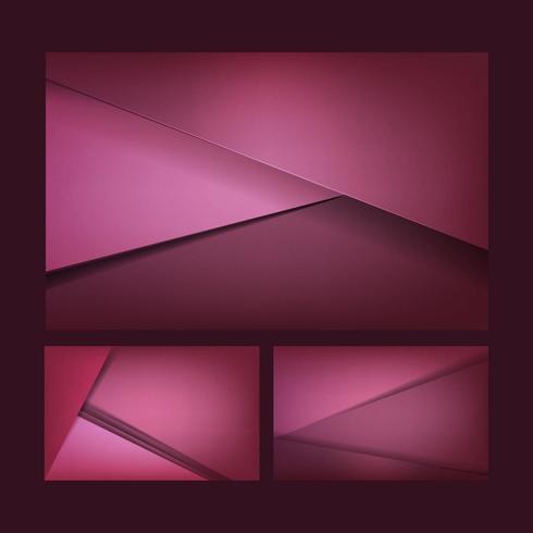 Set abstrakte Hintergrunddesigne im dunklen Rosa