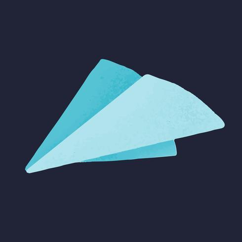 Vettore dell'icona di media sociali dell'aereo di carta
