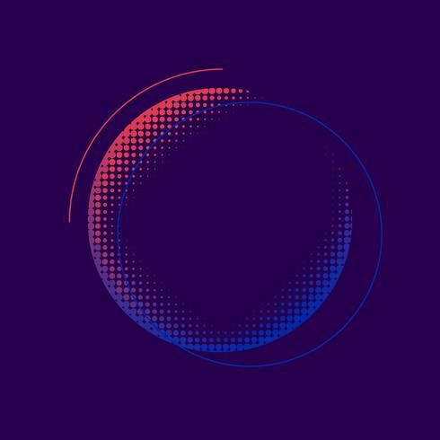 Lila och rosa halvton emblem vektor