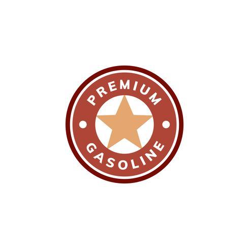 Illustrazione di premium banner icona benzina