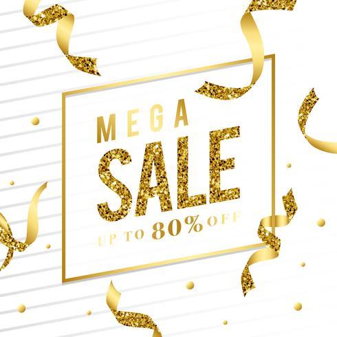 Mega sale 80% off sign vector