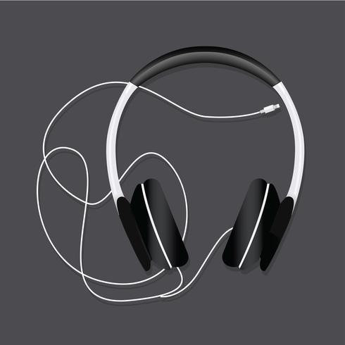 Illustration vectorielle audio casque de divertissement