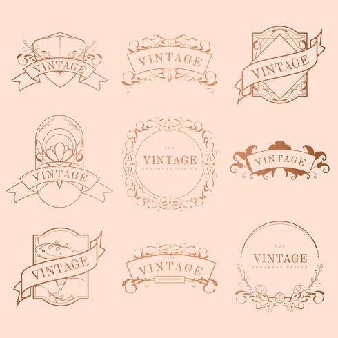 Vintage-Rahmen-Design-Set