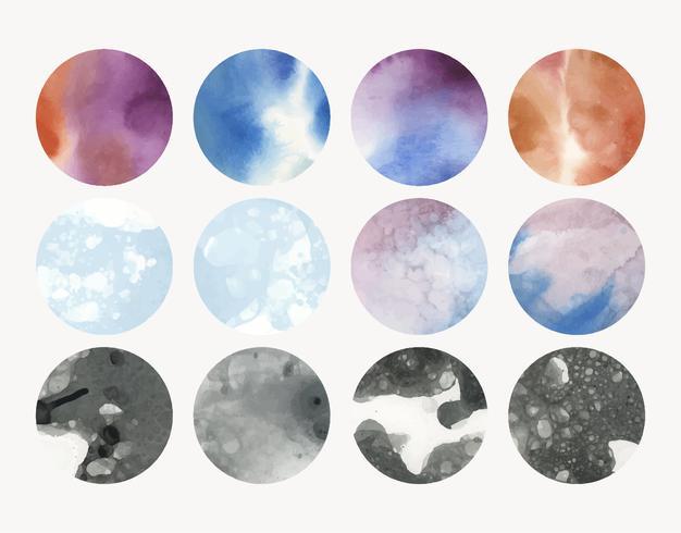 Runder geformter Aquarellhintergrundvektor