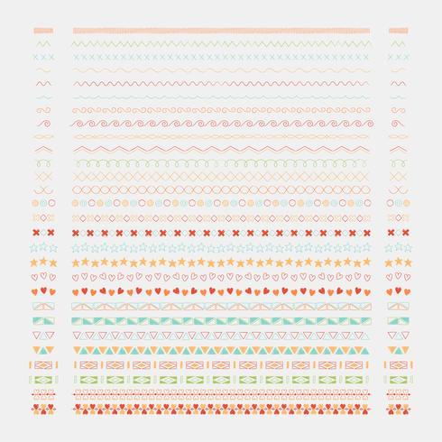Línea divisora diseño elementos vectoriales colección. vector