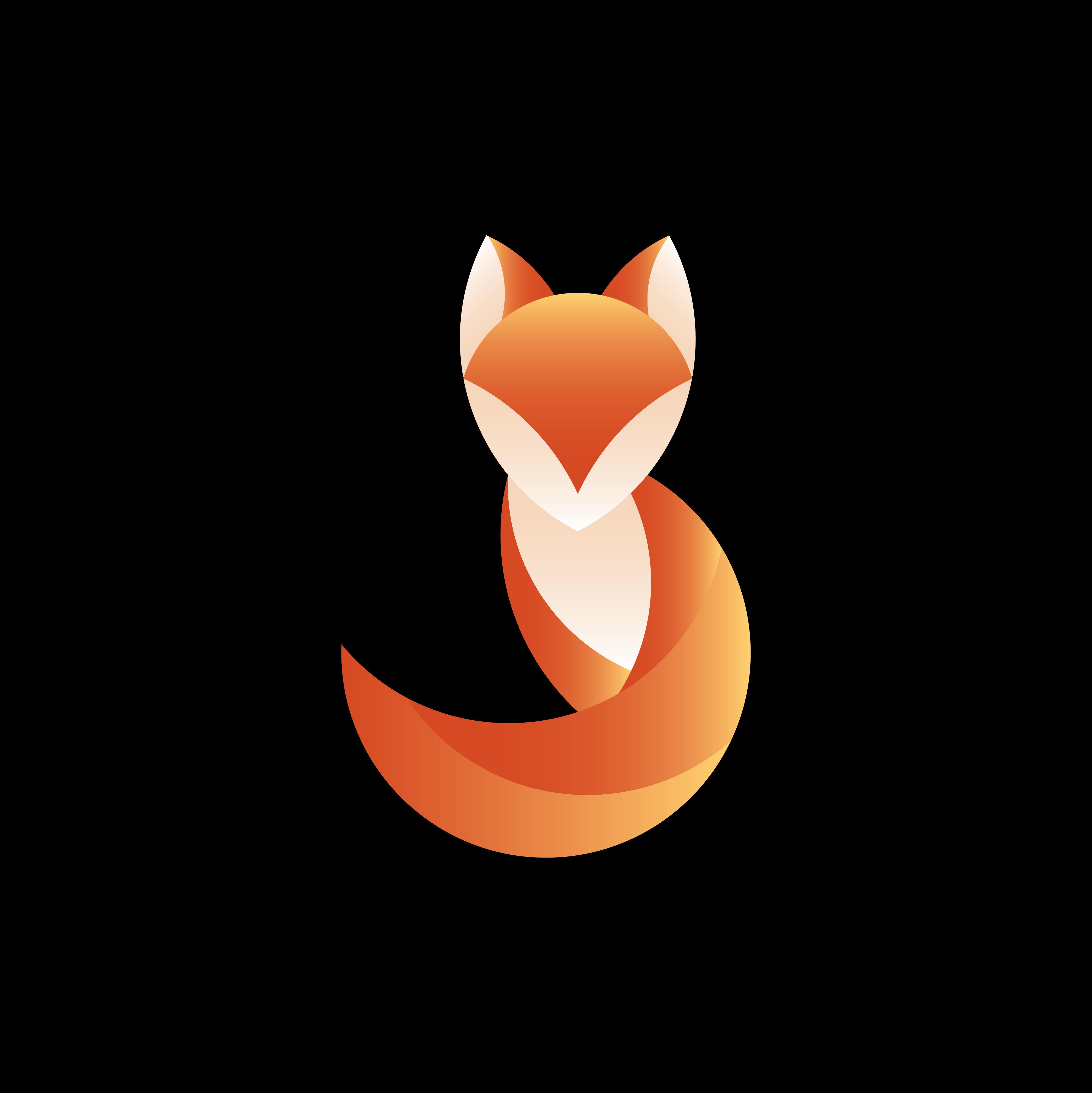 Fox Geometrical Animal Design Vector
