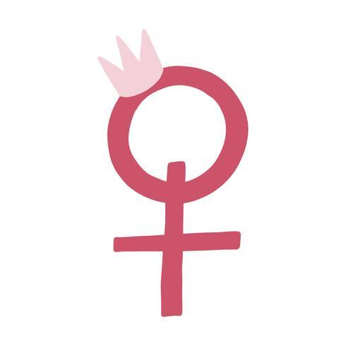 Vecteur de symbole de sexe féminin rose