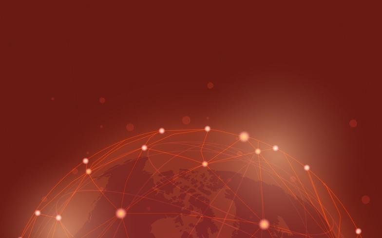 Vettore in tutto il mondo dell'illustrazione del fondo della connessione