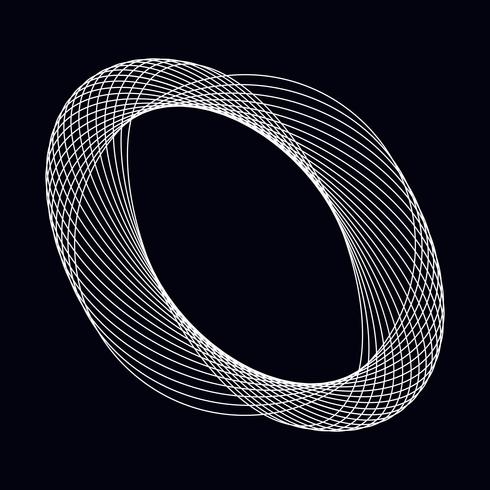 Abstract circular geometric element vector