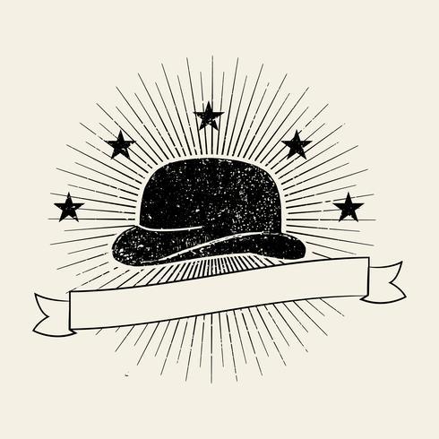 Sombrero para hombre logo ilustración
