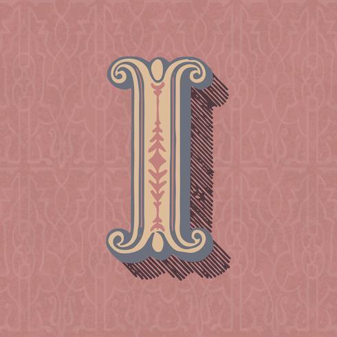 Stile di tipografia vintage lettera maiuscola