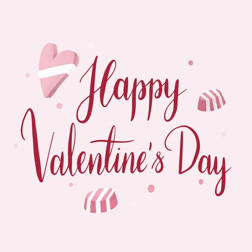 Happy valentines day typography vector
