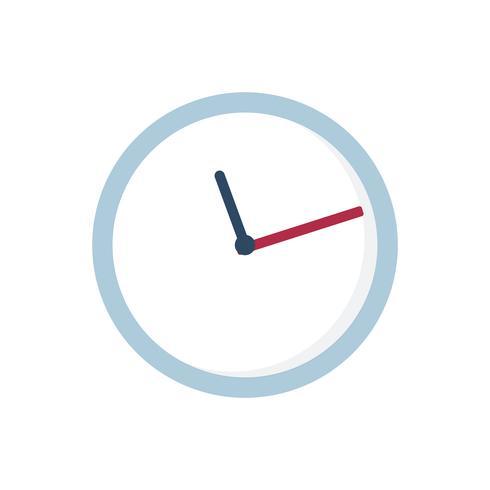 Blaue Uhr lokalisierte grafische Abbildung