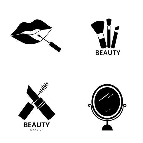 Skönhets kosmetik ikonuppsättning