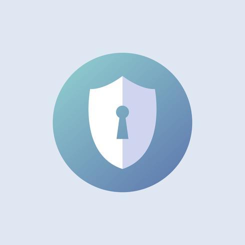 Schildbeveiligingsvector in blauw