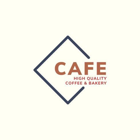 Cafe-Kaffee-Logo von hoher Qualität