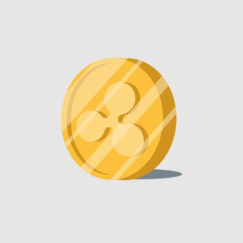 Ripple  cryptocurrency electronic cash symbol vector