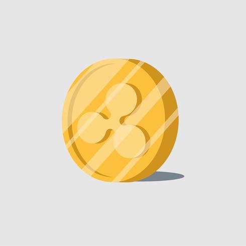 Ripple crypto-monnaie électronique symbole vecteur