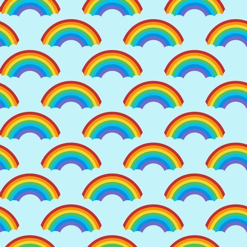 Vector de diseño de patrones de arco iris sin fisuras