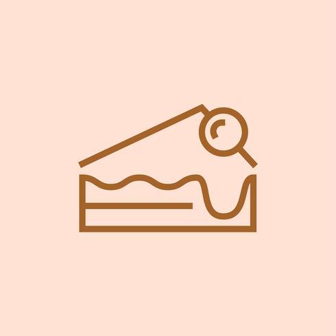 Kuchen- und Bäckereiikonenvektor