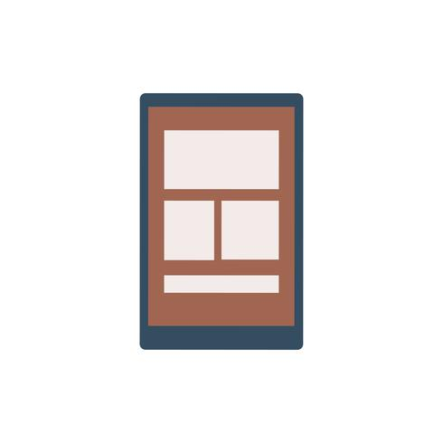 Tablet retratando uma ilustração gráfica de modelo web