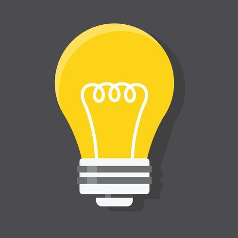 Gráfico de ícone do vetor de ilustração de lâmpada