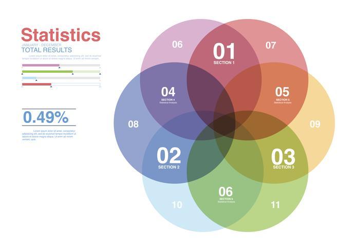 Illustratie van bedrijfsgrafiekanalyse
