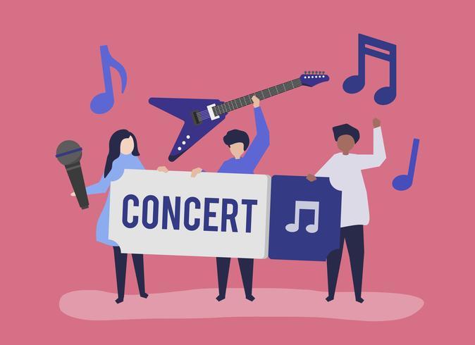 Eine Band, die Live-Musik spielt