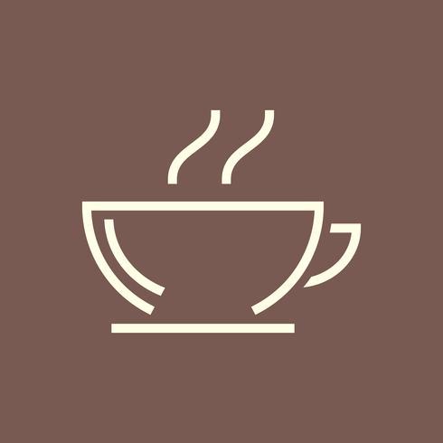 Vetor de ícone de cafeteria quente