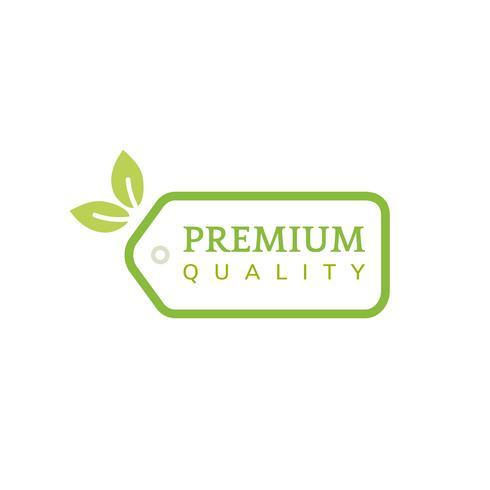 Ilustração de etiqueta de produto de qualidade Premium
