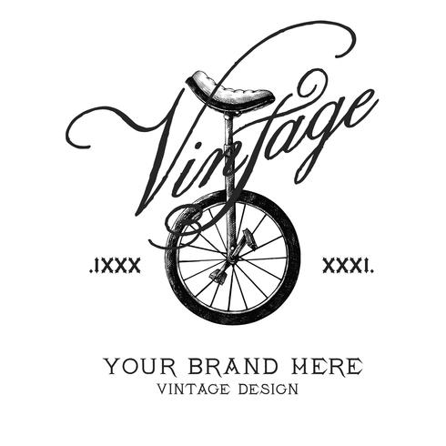 Vecteur de conception de logo de marque Vintage