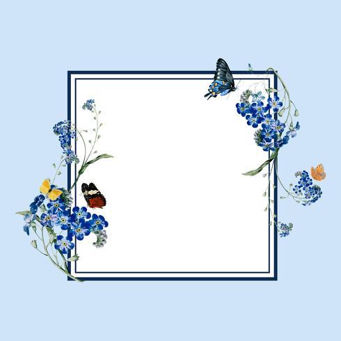 Illustration de carte vierge cadre floral