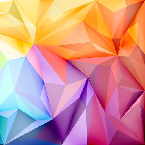 Papel de parede plano de fundo com polígonos em cores gradientes
