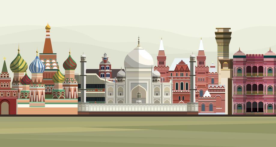 Illustration de monuments célèbres