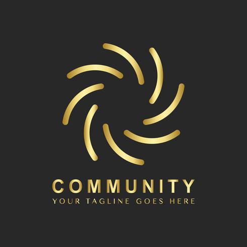 Amostra de design de logotipo de marca comunitária