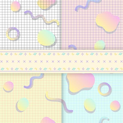 Pastel backgrounds for blogs vectors