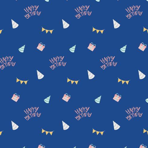 Vettore di disegno di compleanno festivo blu