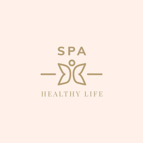 Leben-Logo-Vektor des Badekurortes gesunder