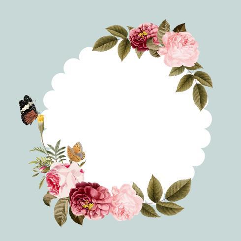 Lege floral frame kaart illustratie