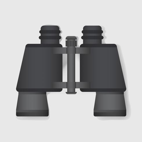 Binocular Verkennen Grafische Illustratie Vector