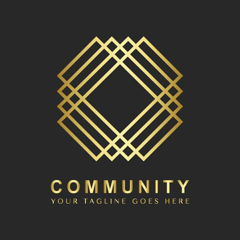 Échantillon de conception de logo de marque communautaire