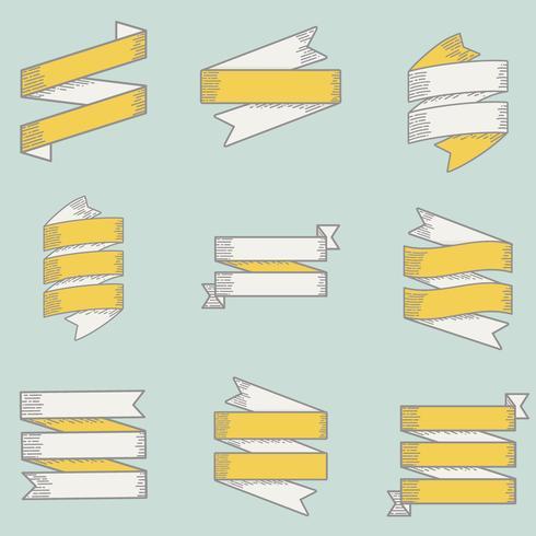 Illustrazione della collezione di banner del nastro