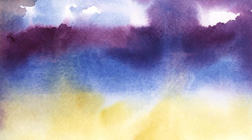 Abstrakt blå och lila vattenfärg fläck konsistens