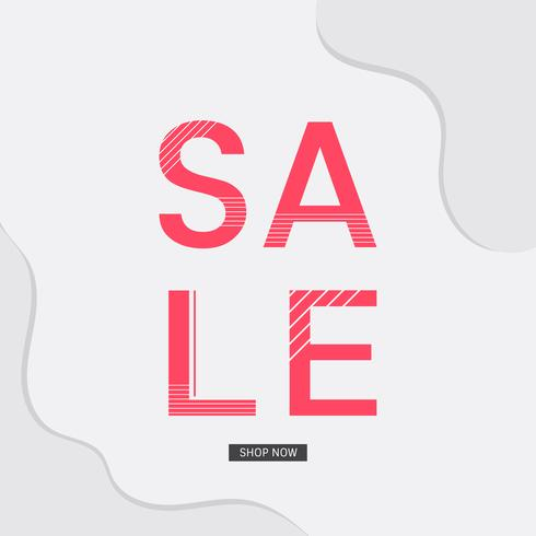 Sale shop now announcement board vector