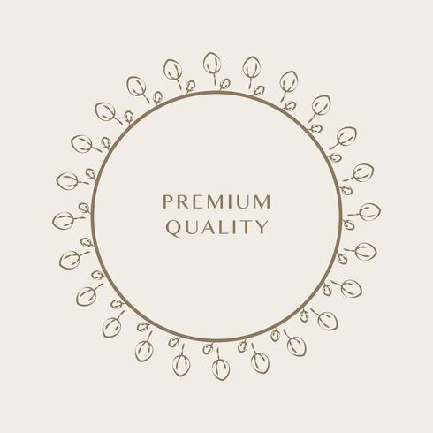 Adorno premium redondo diseño vectorial