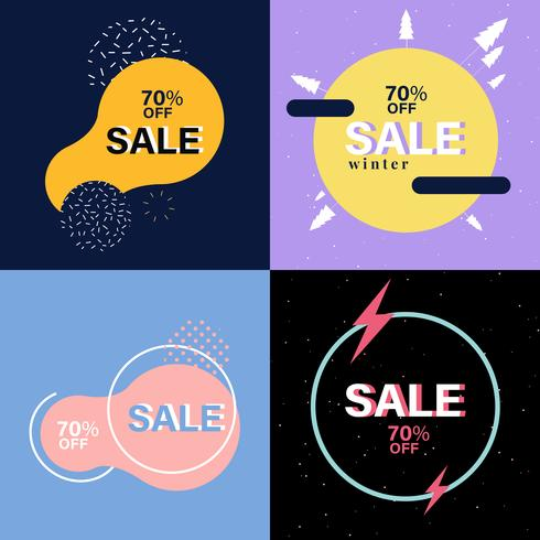 Set di grafica pubblicitaria di vendita