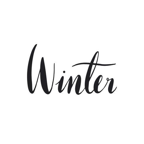 Tipografia invernale nera