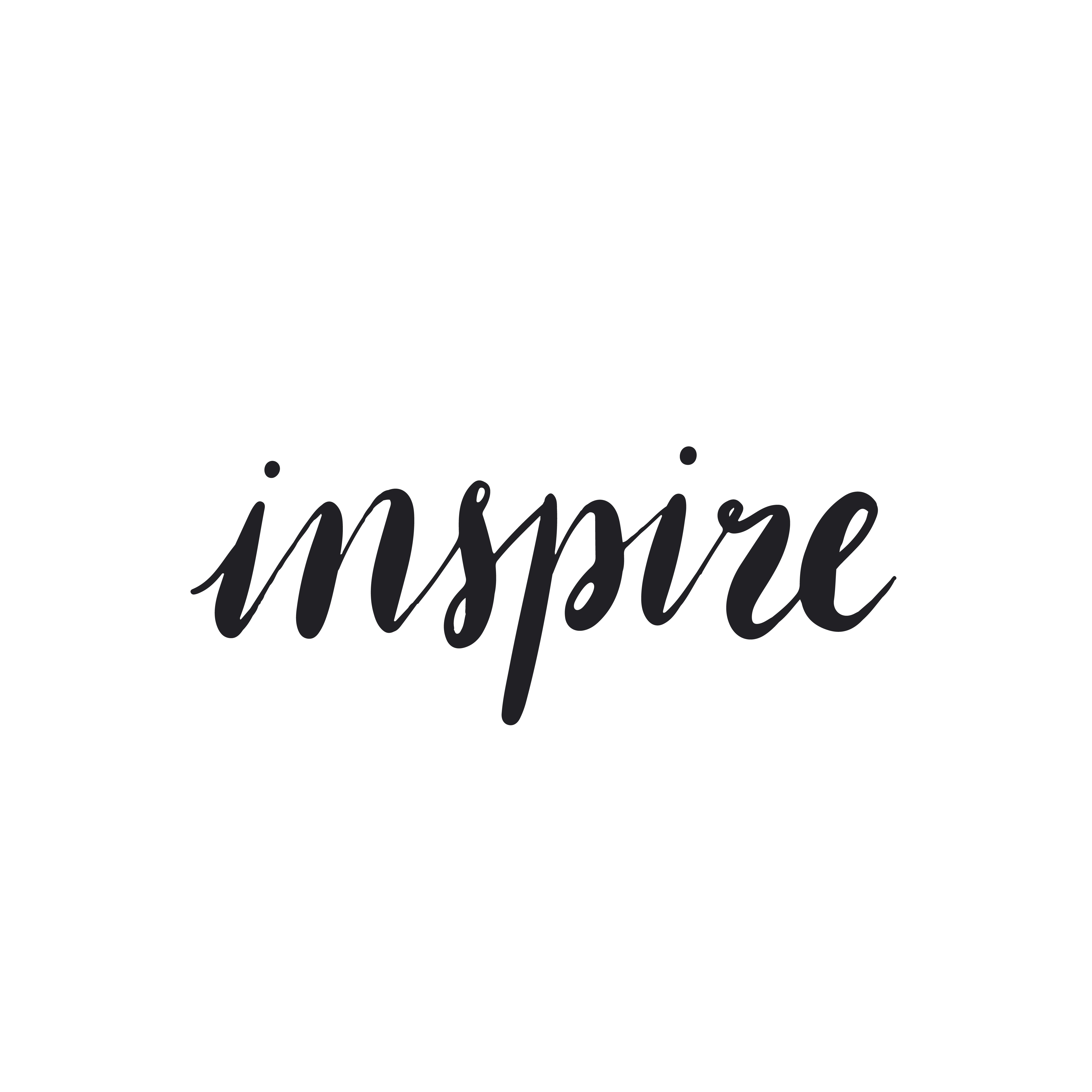 Inspire word typography style vector - Download Free ...